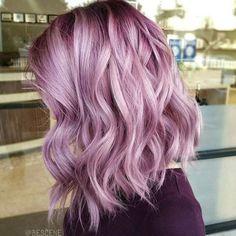 gorgeous pinky purple lilac lavender  hair