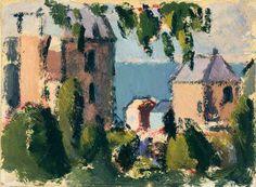 'Houses with Seaview' John Duncan Fergusson, c. 1925