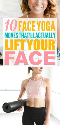 facial yoga These face yoga moves are THE BEST! Im so glad I found these AMAZING face yoga facial exercises! Now I have some great face yoga before and after tips! Yoga Facial, Facial Yoga Exercises, Face Lift Exercises, Mindfulness Exercises, Face Facial, Mindfulness Meditation, Yoga Transformation, Fitness Del Yoga, Health Fitness