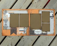 12x12 Premade Scrapbook Pages - Halloween - Trick or Treat - Double Page Layout