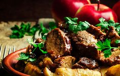 Slow Roast Cannabis-Infused Pork Shoulder with Canna-Applejack Glazed Apples and Pears - The Travel Joint Slow Roast, Pork Roast, Apple Glaze, Cannabis News, Apple Pear, Pears, Apples, Beef, Shoulder
