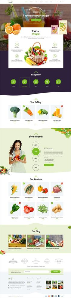 Organiz is a powerful, modern and creative #PSD template, designed for #food and #organic products eCommerce website download now➩  https://themeforest.net/item/organiz-a-powerful-organiz-store-psd-template/19310374?ref=Datasata
