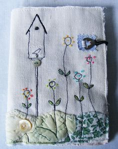 """Needlecase by Hensteeth - would make a lovely card, with """"put a little birdhouse in your soul"""" sentiment."""