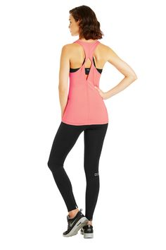 Lorna Jane Ohara Excel Tank | Neon Melon | OP S$89.9. Available at Upside Motion Orchard Studio. 25% OFF
