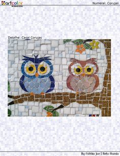 Two Tiny Mosaic Owls =)