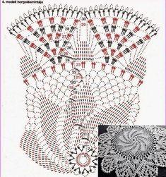 Pineapple Crochet, Crochet Tablecloth, Crochet Chart, Doilies, Pandora, Embroidery, Flowers, Crochet Diagram, Rugs