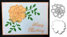 Flower Die Cut - COMBO LOVELY PEONY AND LOVELY PEONY BACKGROUND BY MEMORY BOX #MemoryBox