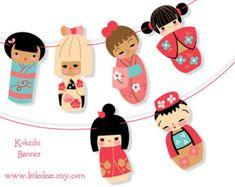 Printable Chinese Zodiac cute animals Banner PDF door littledear