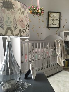 The perfect gray and girly nursery!
