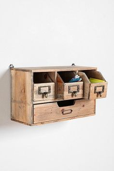 I don't know what I would use this for, but I want it. Reclaimed Wood Organizer