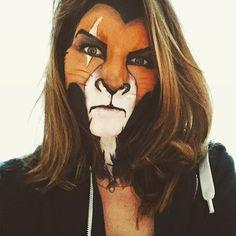 Repost of an older scar makeup I did because it's still my favorite 🐯 Scar Halloween Costume, Halloween Rave, Cool Halloween Makeup, Halloween Makeup Looks, Halloween Photos, Halloween Make Up, Halloween Ideas, Scar Makeup, Lion Makeup