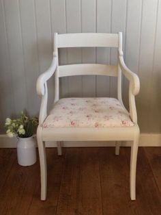 This handpainted chair covered in our Peony and Sage Hattie Fabric. Produced & Photographed by the gifted Corner House, Dorking Surrey. Available to buy now if you are quick!