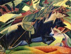 Lancieri italiani al galoppo, 1915