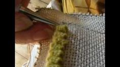 "Doris Eaton Demonstrates the ""Eaton Edge"" (for finishing a hooked rug), via YouTube."