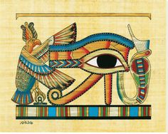 Eye of Horus, Designed to resemble the eye of a falcon, this symbol is also called the Eye of Ra. Horus, also known as the sun god Ra, was a falcon-headed sky god from ancient Egypt. He is associated with vitality, health and regeneration.