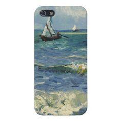 Seascape Les Saintes-Maries-de-la-Mer by Van Gogh iPhone 5 Cases