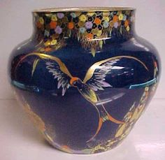 Carlton Ware vase in blue