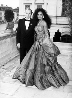 diana ross married arne naess | stunning looking Diana with husband Arne Naess, 1986