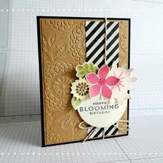Stampin' Up! Lovely lace, Flower Patch, Bloomin birthdays!