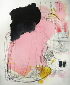 """""""Taciturn"""". Mixed media on paper. Crafted by Michael Tino."""