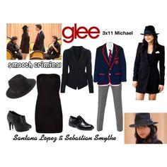 """Santana Lopez & Sebastian Smythe (Glee) : Smooth Criminal"" by aure26 on Polyvore"