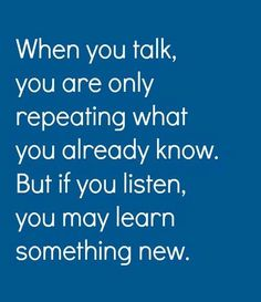 You may learn somthing new