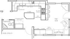 Kitchen Floor Plans Peninsula kitchen remodeling ideas for galley kitchens kitchen remodeling