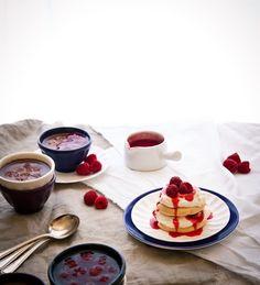 lemon + rose-scented pavlova with raspberry-caramel, lemon mascarpone cream, + fresh rosy raspberries