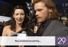 Jess, 26. Sam and Cait. Jamie and Claire. Outlander.