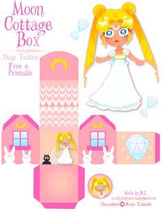 Sailor Moon (Usagi Tsukino)  Cottage Box - Free & Printable. (C) Naoko Takeuchi