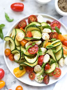 Caprese Zucchini Salad | 21 Delicious Veggie Noodles To Make With Your Spiralizer