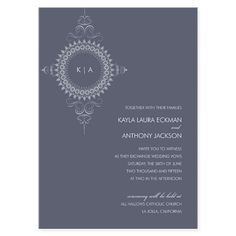 Stunning Monogram eInvite Wedding Wedding Invitations Modern