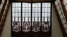 Stainedglass windows from Scheepvaarthuis Amsterdam Grand Hotel Amrath