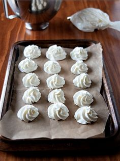 Freeze dollops of whipped cream for a hot chocolate bar -- they'll get melty in the cocoa!