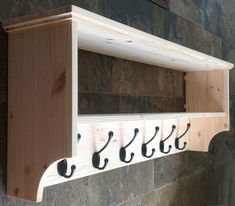 Hat & coat rack with shelf. Wall mounted solid by OriginalCrate