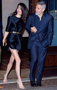 Amal and George Clooney spotted at the Locanda Verde in New York – Amal Clooney Style Fashion Couple, Fall Fashion Outfits, Casual Fall Outfits, Mode Outfits, Look Fashion, Autumn Fashion, Womens Fashion, Navy Outfits, Celebrity Couples