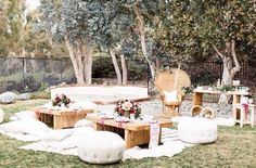 A garden wedding party bohemian style