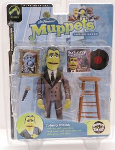 Palisades toys THE MUPPET SHOW JOHNNY FIAMA bronze suit variant NEW still factory sealed in the original package Package condition: Overall Great condition; very minor shelf wear only Figure size: 6 i