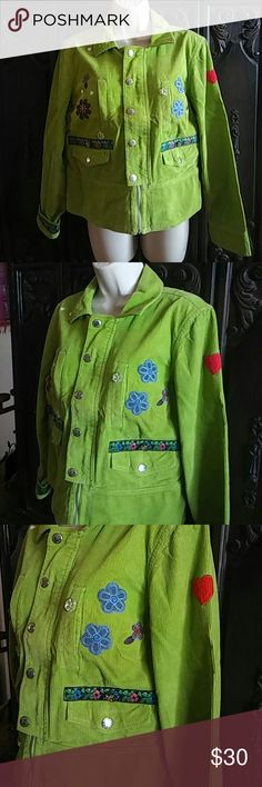 Green Cuordoroy Tommy Hilfiger Jacket Patches Medi Medium Tommy Hilfiger Jackets & Coats