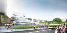 Galeria de BIG divulga projeto de escola secundária em Arlington - 12