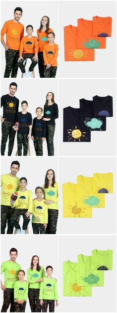 Printed Design Letter Pattern Family Matching T-shirts