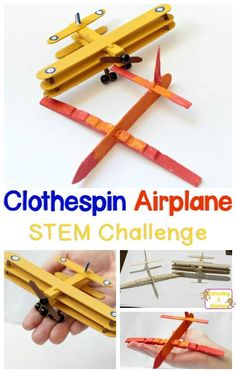 If your kids love STEM activities and engineering challenges, they will love this clothespin airplane building challenge. What kind of airplane can you make?