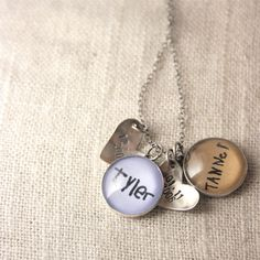 Your child's handwriting as a charm...love it!