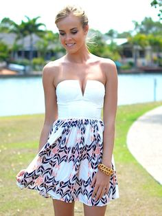 white/patterned summer dress