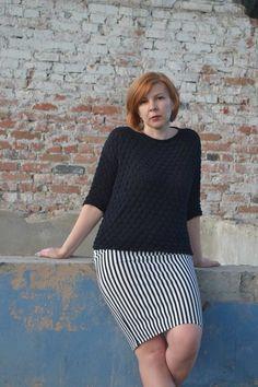 . Весенне-летний пуловер, чтоб было с чем юбку надеть:)