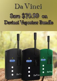 At DaVinci Vaporizer, they are offering $70.99 discount on Davinci Vaporizer Bundle. Order now and avail this offer. For more DaVinci Vaporizer Coupon Codes visit: http://www.couponcutcode.com/stores/davinci/