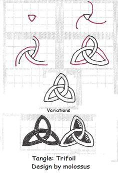 Trifoil-Tangle Pattern by molossus, who says Life Imitates Doodles, via Flickr