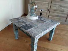 Just a table My wife gave a make  over i say sheet nailt it