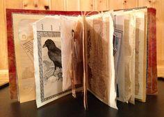 An artist Book from recycled & repurposed papers, old envelopes, ephemera. Rita McNamara - Salon de Refuse
