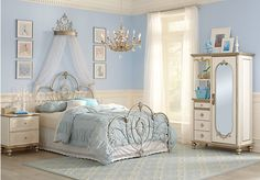 picture of Disney Princess Enchanted Kingdom Iron 4 Pc Twin Panel Bedroom  from Teen Bedroom Sets Furniture